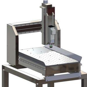 CAD-Modell meiner Portalfräsmaschine